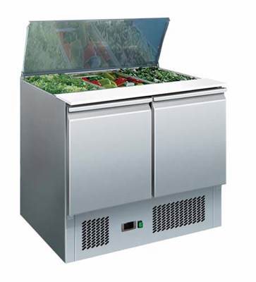 SA900 Saladette Fridge Combine worktop and refrigerated..