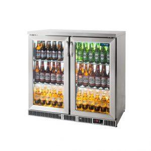 Stainless Steel 2 Door Bottle Cooler